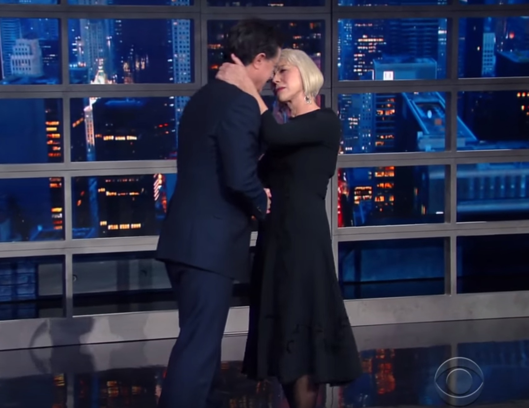 Helen Mirren gave Stephen Colbert a greeting he never expected