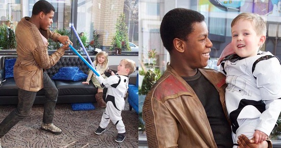 John Boyega visited a children's hospital dressed as Finn and our hearts can't take it