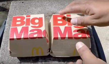 Big Macs appear impervious to harm (and molten copper) in this viral video