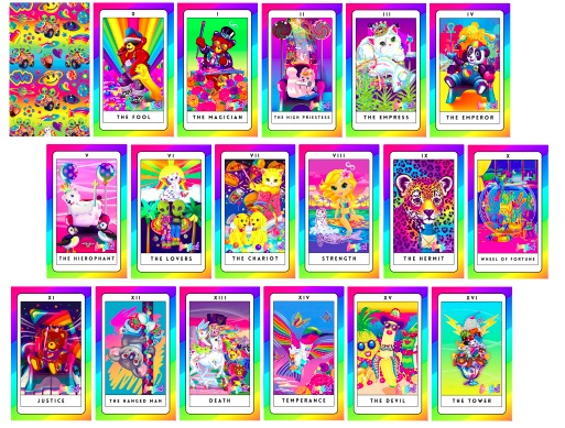 These are the magical Lisa Frank tarot cards of our '90s dreams