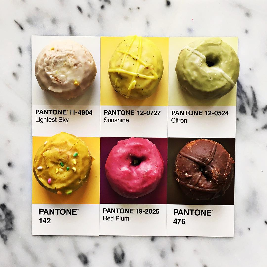 Artist impressively matches tons of tasty treats with Pantone colors