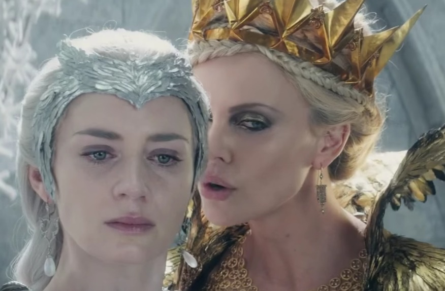 "Emily Blunt is her darkest and fiercest in the new ""Huntsman"" trailer"