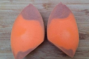 It's apparently really gross when you cut Beautyblenders in half