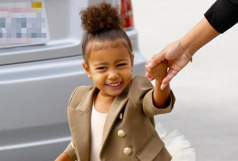 North West tried Kylie's lip kit and it was the cutest thing ever