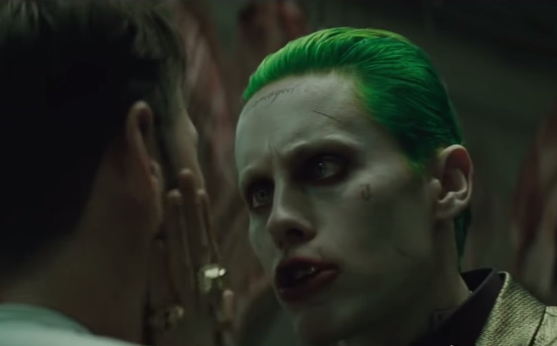 "Jared Leto looks terrifyingly bonkers in the brand new ""Suicide Squad"" trailer"