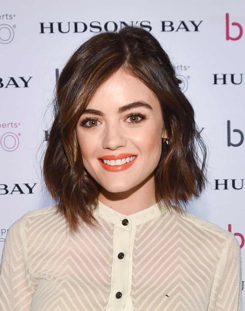 Lucy Hale's retro glasses are the perfect holiday accessory