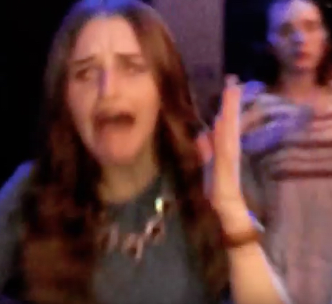 This girl has a total meltdown when her parents surprise her at a high-school dance