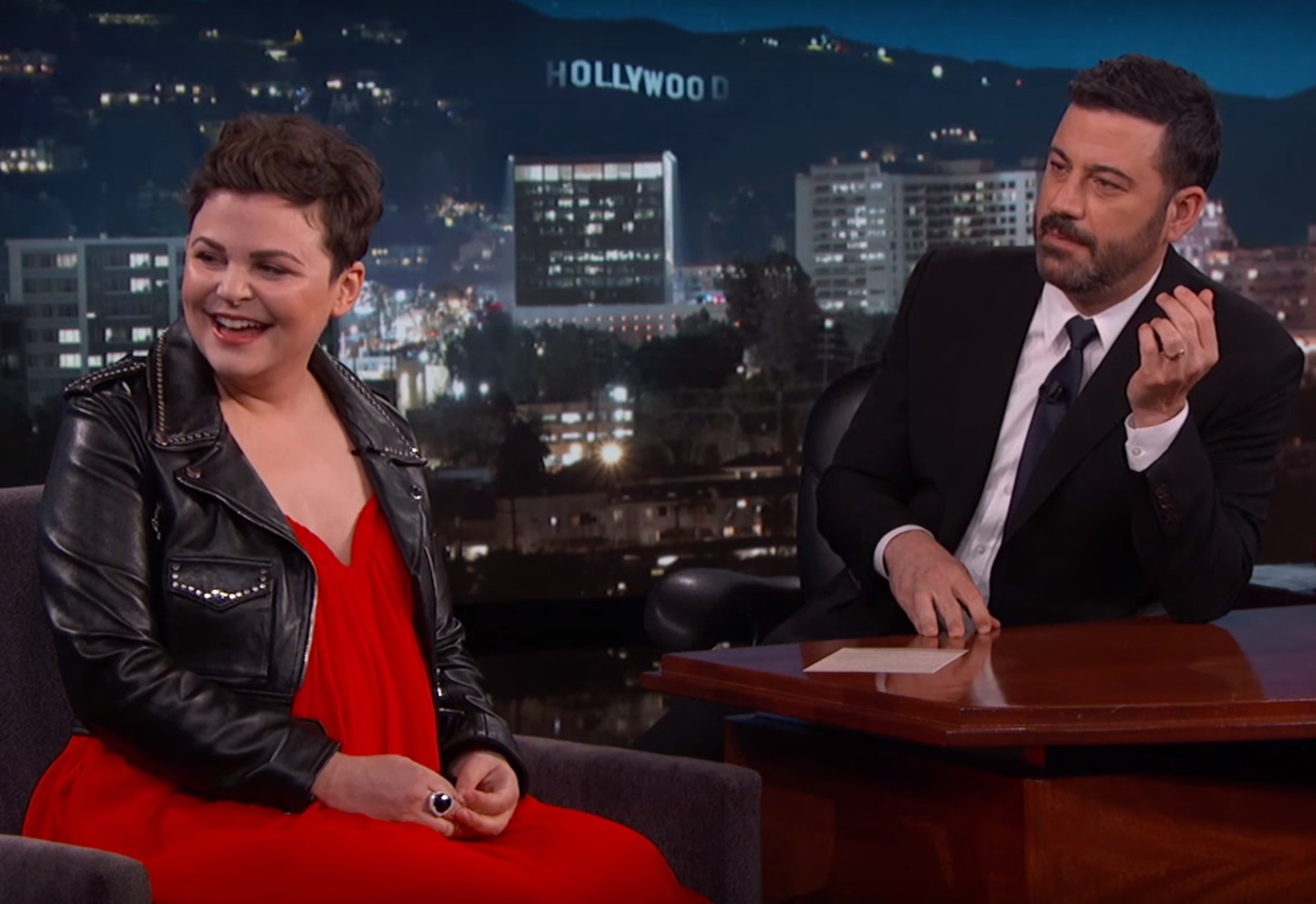 Jimmy Kimmel helped Ginnifer Goodwin pick out a name for her baby