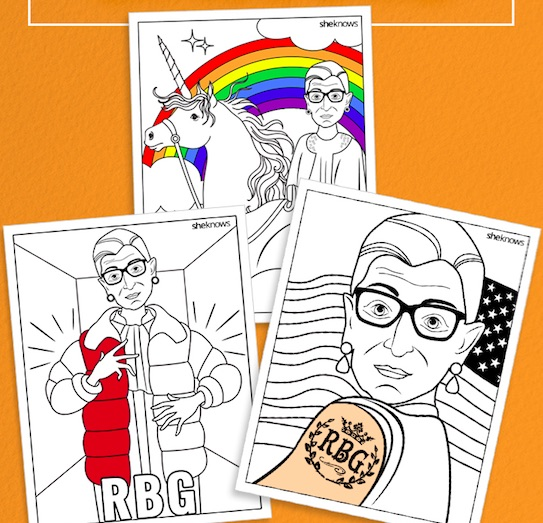 This Ruth Bader Ginsburg coloring book is what dreams are made of