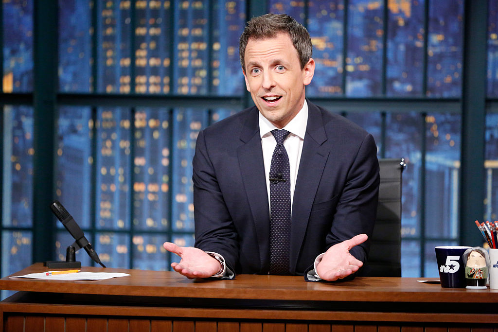 Seth Meyers and his wife terrified an Uber driver on their way to the hospital to have their baby