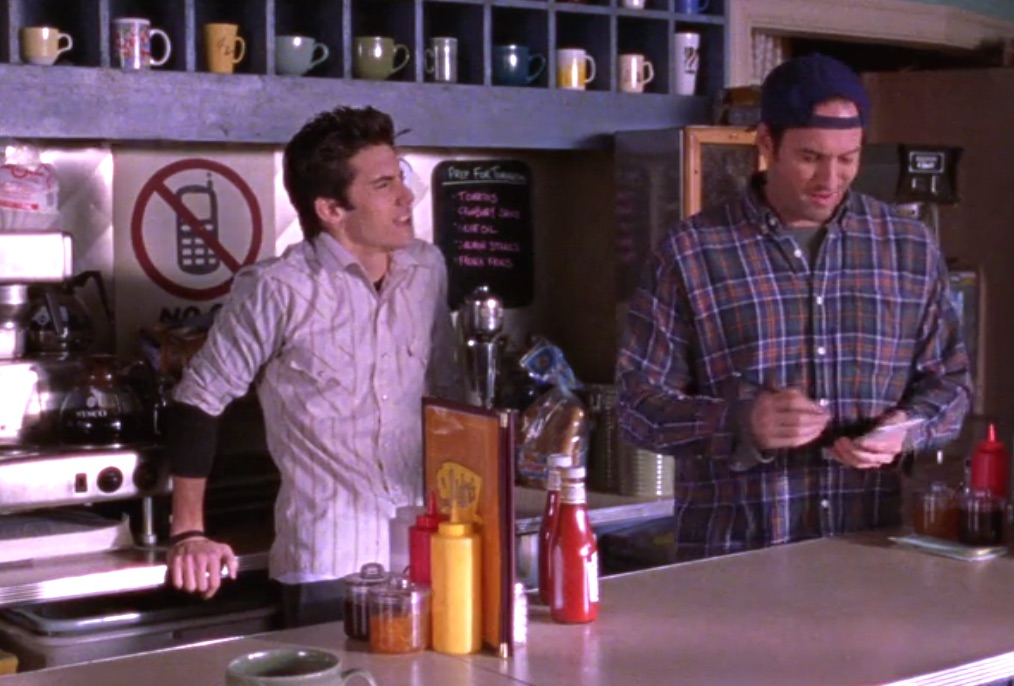 "Luke's got a new sign in his diner on ""Gilmore Girls,"" and it will make you laugh and love him forever"