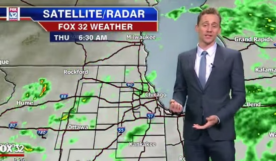 Tom Hiddleston delivers a weather report, proves that there's nothing he can't do