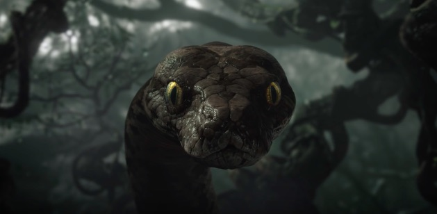 "New ""Jungle Book"" footage gives us a frighteningly close look at Scarlett Johansson's Kaa"