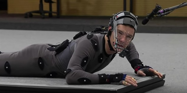 "This mesmerizing video shows Benedict Cumberbatch's motion capture process for ""The Hobbit"""