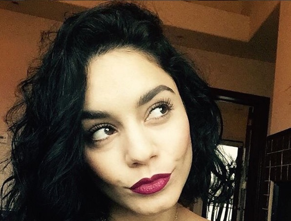 Vanessa Hudgens is fall perfection in a billowy mini dress