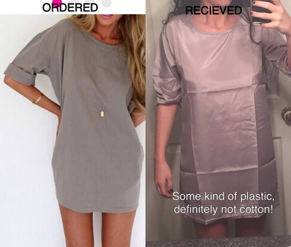 This is why you should never order cheap dresses you find through Facebook ads