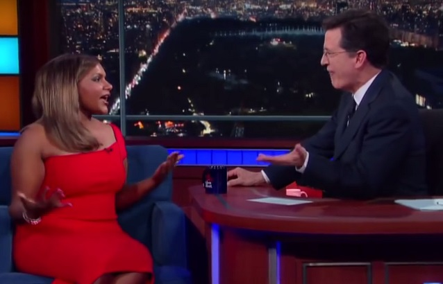 Mindy Kaling has called Stephen Colbert out for being a terrible guest star