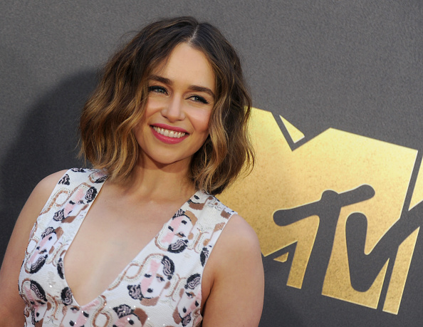 "Is Emilia Clarke's MTV Movie Awards dress a ""Game of Thrones"" spoiler?"