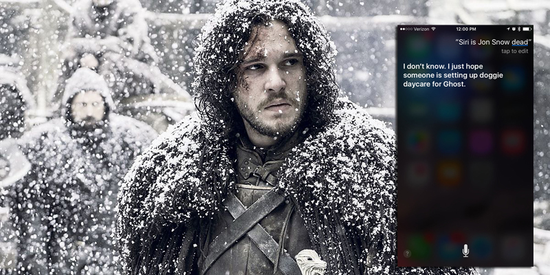 "Siri is just as confused about what's happening on ""Game of Thrones"" as the rest of us"