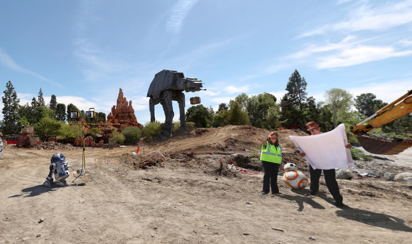 Disneyland just released an official first look at Star Wars Land construction