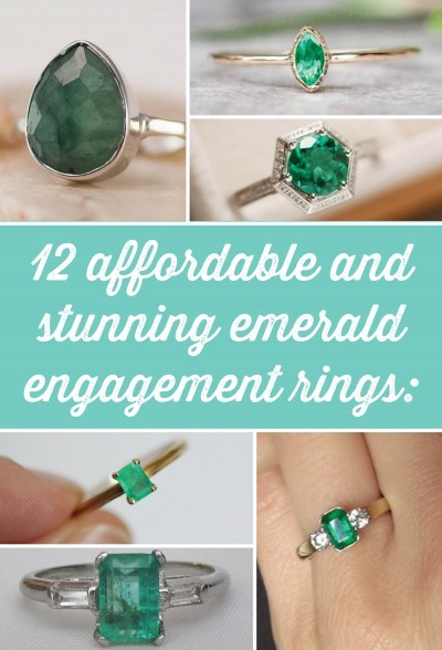 12 affordable and stunning emerald engagement rings