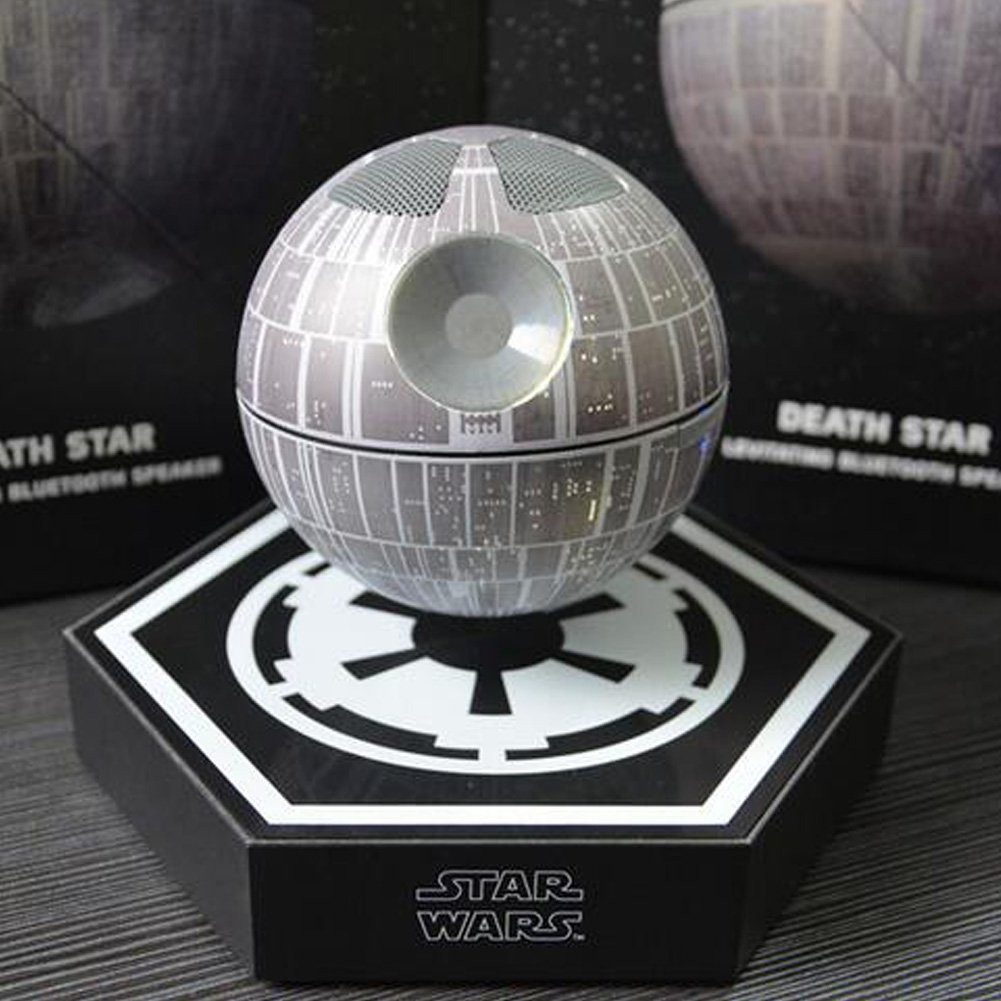 This tiny, levitating Death Star speaker is the stuff of fan girl dreams