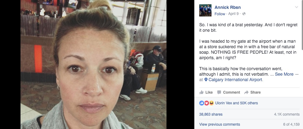 This woman's inspiring words to an age-shaming clerk have gone mega viral