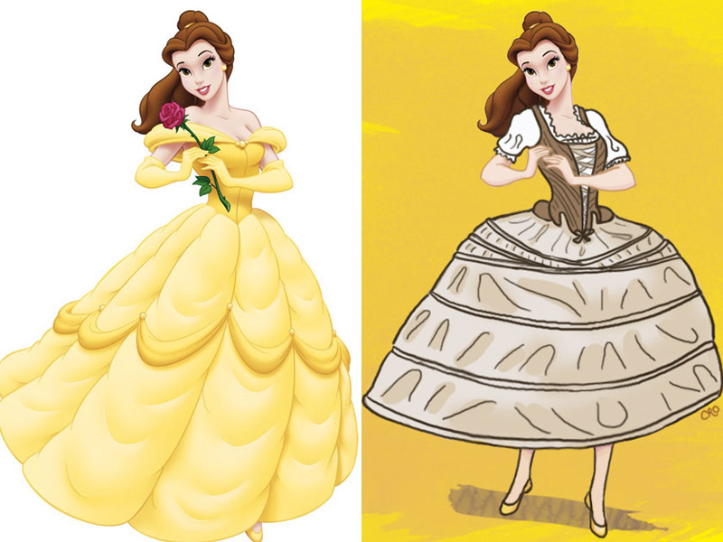 If Disney Princesses wore historically accurate underwear