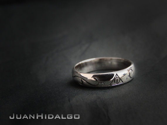 deathly hallows ring - Harry Potter Wedding Rings