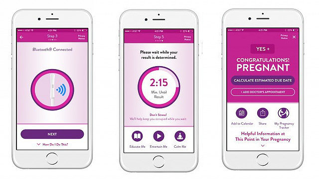 A bluetooth-enabled pregnancy test exists and we're intruiged