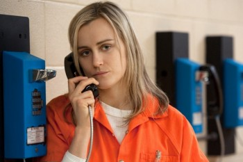 "Taylor Schilling just opened up about how much makeup goes into Piper's no makeup look on ""OITNB"""