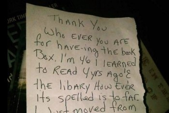 This heartwarming letter proves that even little libraries are worth it