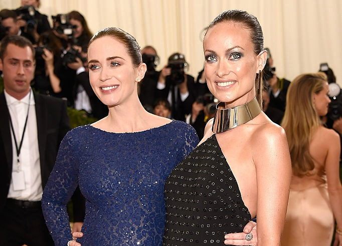 Current obessession: Emily Blunt and Olivia Wilde's pregnancy looks at the Met Gala