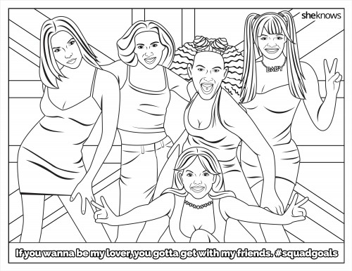 Sharpen your crayons, this free #SquadGoals coloring book is giving us life