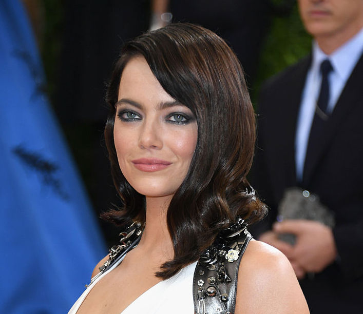 Emma Stone's new dark hair is a gothic dream