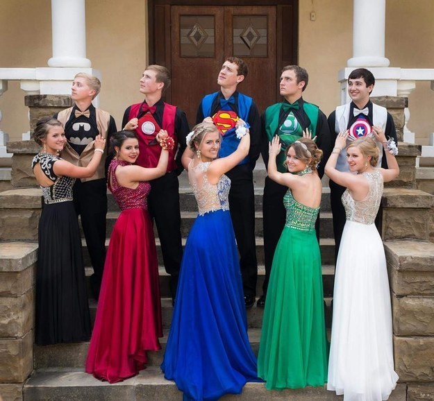 These kids won the internet by going to prom as superheroes