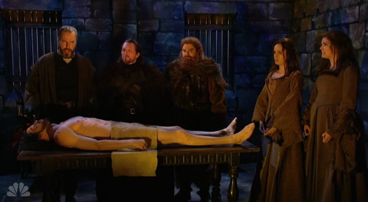 """SNL"" expertly spoofed that Jon Snow moment from last week's ""Game of Thrones"""