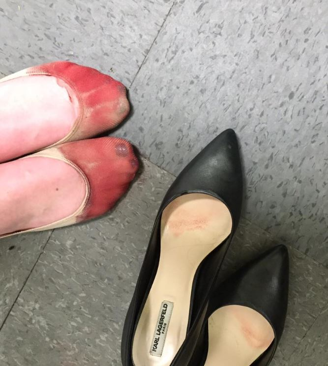 What happened when this server was forced to wear heels will horrify you