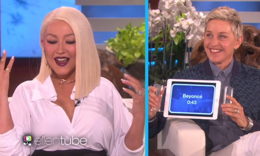 Christina Aguilera's musical impressions of Beyoncé and Katy Perry will make you bow down