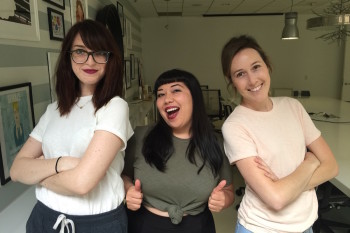 We found the most comfortable t-shirt in the world and tried it on