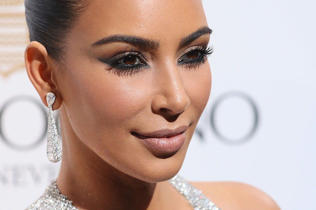 Kim Kardashian looks like a waterfall of diamonds at Cannes