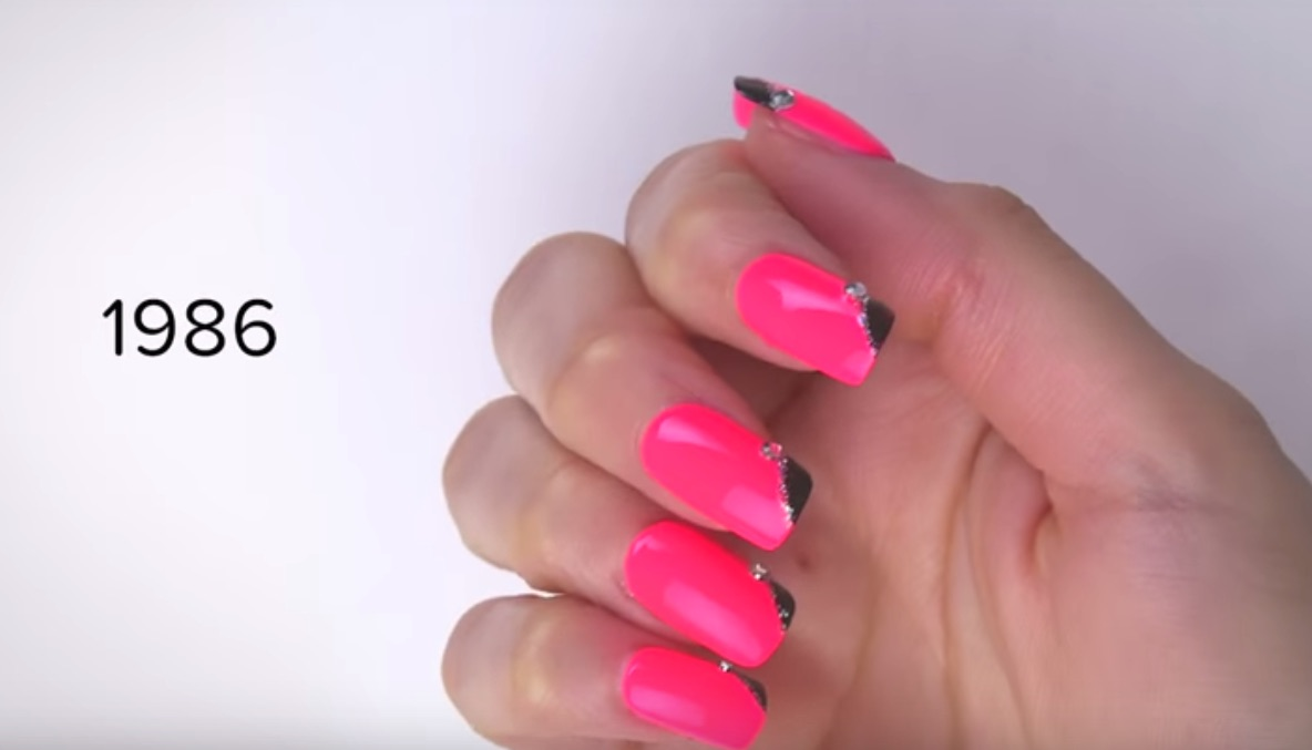 this video showing 100 years of nail art is going to