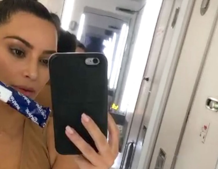 Kim Kardashian just Snapchatted her pregnancy scare and it was intense