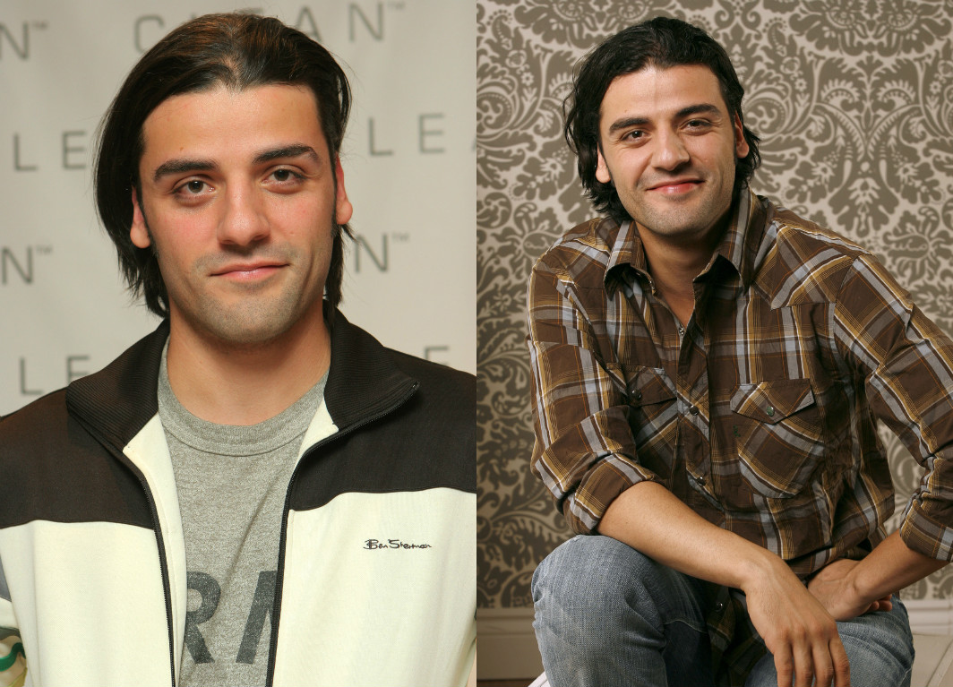 You deserve these mid-2000s pictures of Oscar Isaac with long hair
