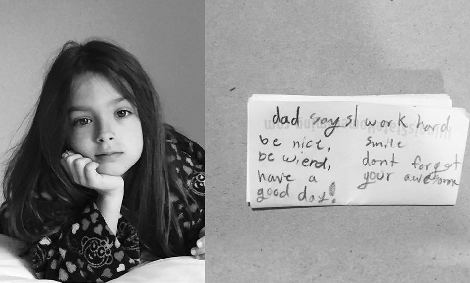This little girl's inspirational note to herself could help us all