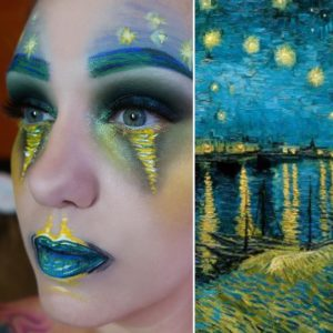 Woman uses makeup to transform herself into iconic works of art, and it's insane
