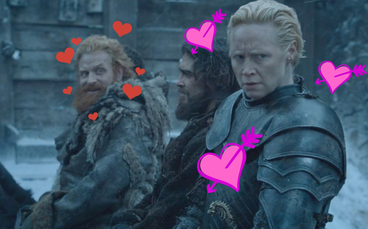 """Game of Thrones"" CUT a scene that proves Brienne + Tormund is a thing"
