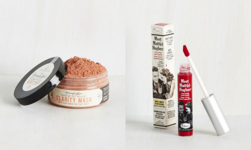 Modcloth has a beauty section, and we're like please take all our money