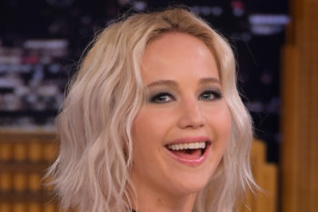 "Jennifer Lawrence is totally channelling '90s Drew Barrymore on ""Jimmy Fallon"""
