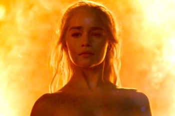 "Emilia Clarke watched THAT nude ""Game of Thrones"" scene with her parents and it got awkward"